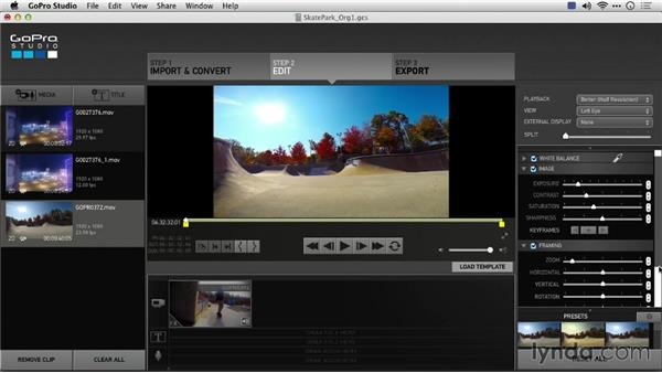 Using active metadata or baking effects: Preparing GoPro Footage for Editing