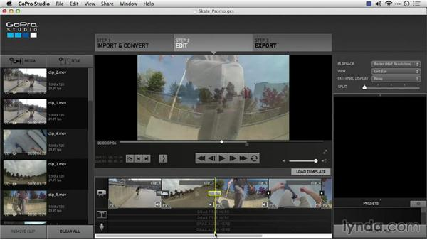 Adding transitions: Preparing GoPro Footage for Editing