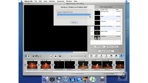Save as... to another volume: iMovie HD + iDVD 5 Essential Training