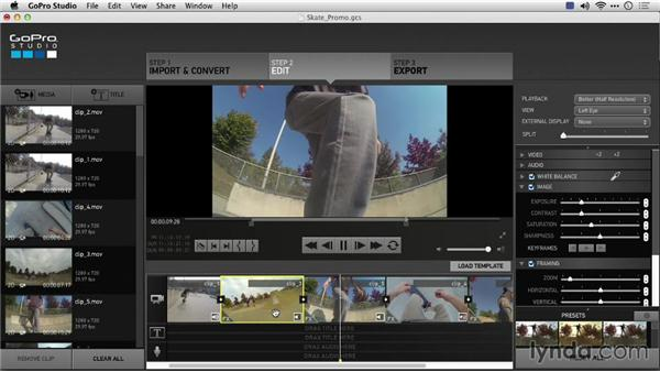 Color correcting footage and keyframing: Preparing GoPro Footage for Editing