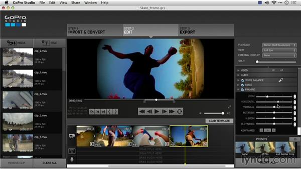Adjusting framing: Preparing GoPro Footage for Editing