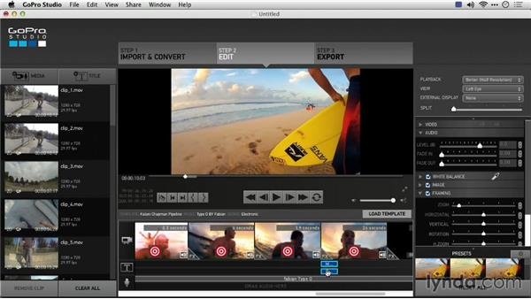 Working with the GoPro Edit Template elements: Preparing GoPro Footage for Editing