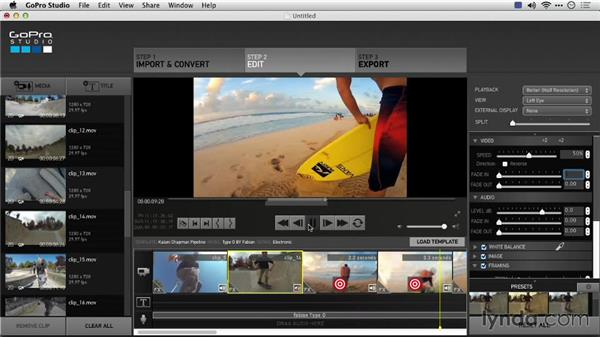 Populating an Edit Template: Preparing GoPro Footage for Editing