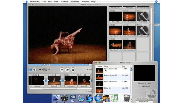 Checking the trash before archiving: iMovie HD + iDVD 5 Essential Training