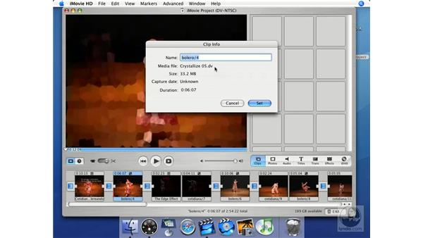 Show info: iMovie HD + iDVD 5 Essential Training