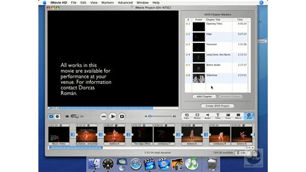 Segment: iMovie HD + iDVD 5 Essential Training