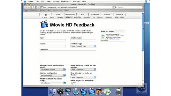 Feedback: iMovie HD + iDVD 5 Essential Training