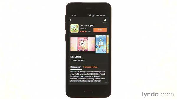 Downloading and organizing apps from the Amazon Appstore: Amazon Fire Phone First Look