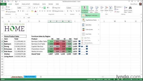 Using conditional formatting: Migrating from Office 2010 to Office 2013