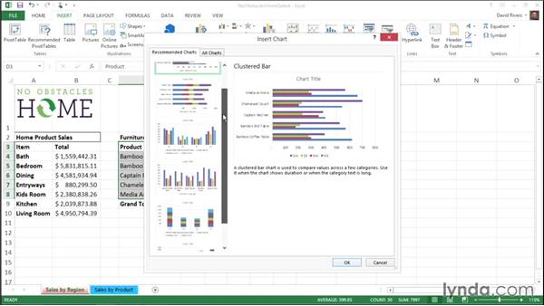 Creating charts with Recommended Charts: Migrating from Office 2010 to Office 2013