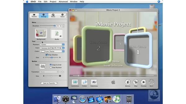 Settings: iMovie HD + iDVD 5 Essential Training