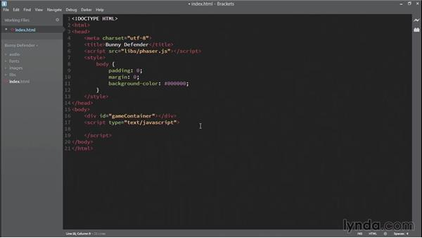 Creating your Phaser project: HTML5 Game Development with Phaser