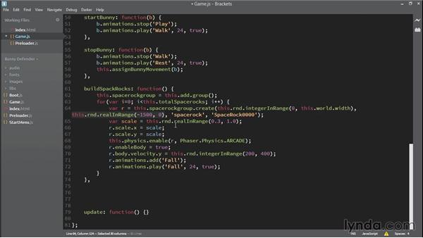 Spawning enemies: HTML5 Game Development with Phaser