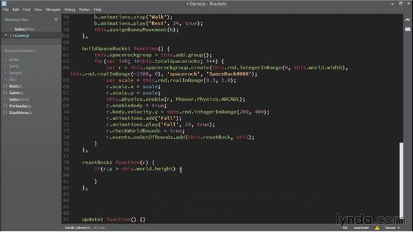 Dealing with offscreen entities: HTML5 Game Development with Phaser