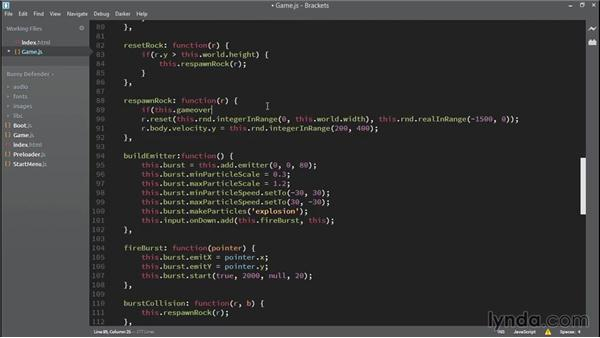 Detecting game-over: HTML5 Game Development with Phaser