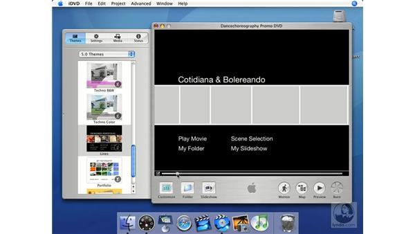 How themes are used in iDVD: iMovie HD + iDVD 5 Essential Training