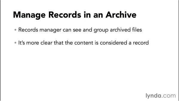 Learning how to manage records: Managing Records in SharePoint
