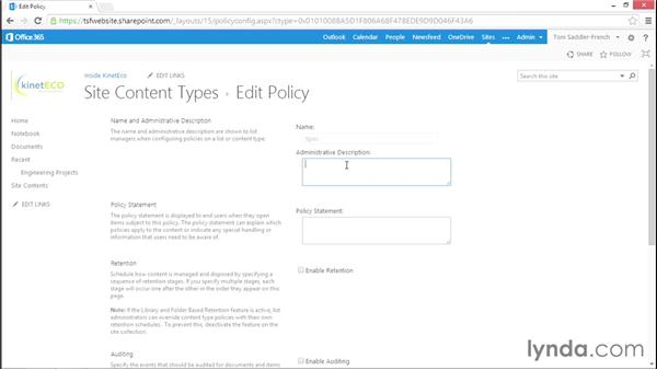 Introduction to information policies in SharePoint: Managing Records in SharePoint