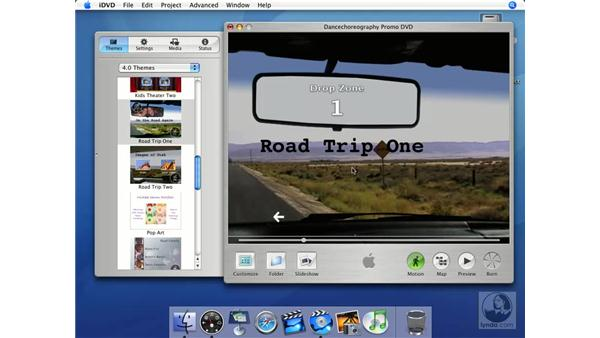 Themes and menus: iMovie HD + iDVD 5 Essential Training