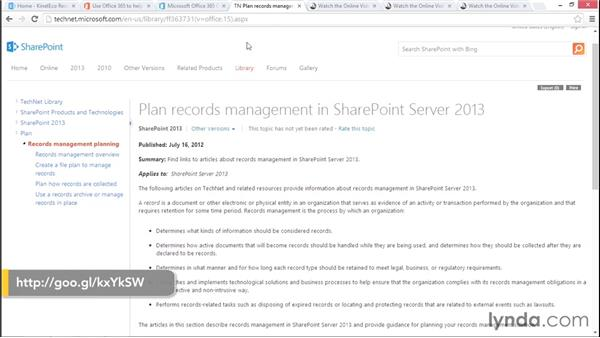 Next steps and resources: Managing Records in SharePoint