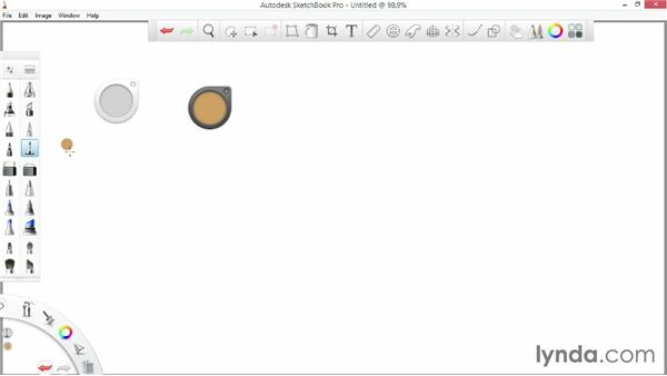 Interface overview: SketchBook Pro 7 Essential Training