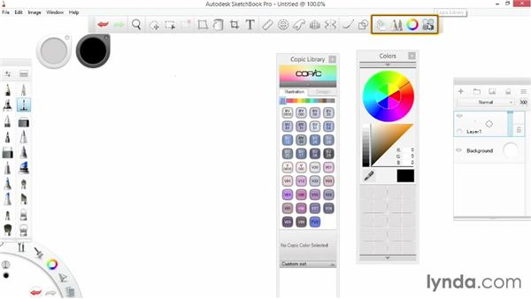 Exploring the Window and Help menus: SketchBook Pro 7 Essential Training