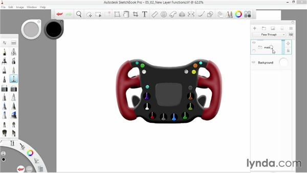 New layer functions: SketchBook Pro 7 Essential Training