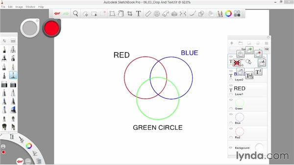 Working with Crop and adding text: SketchBook Pro 7 Essential Training