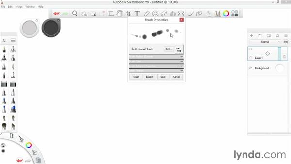 Creating do-it-yourself brushes: SketchBook Pro 7 Essential Training
