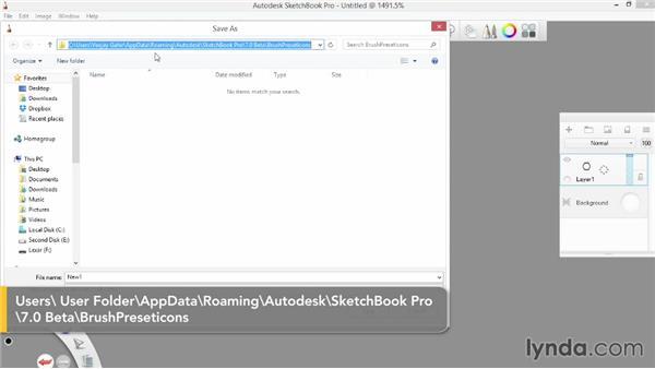 Creating custom icons: SketchBook Pro 7 Essential Training