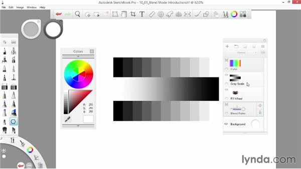 Introducing blend modes: SketchBook Pro 7 Essential Training