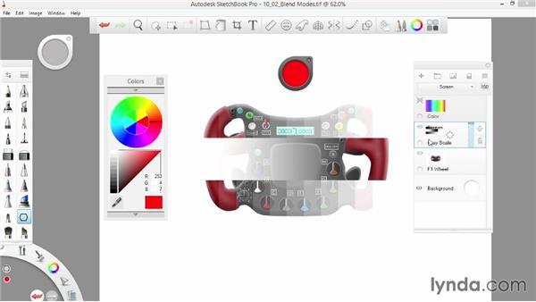 Lighten options: SketchBook Pro 7 Essential Training