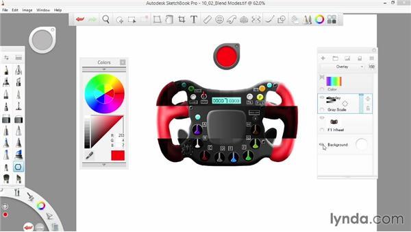 Contrast blend modes: SketchBook Pro 7 Essential Training