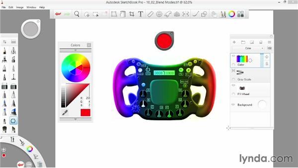 Color blend modes: SketchBook Pro 7 Essential Training