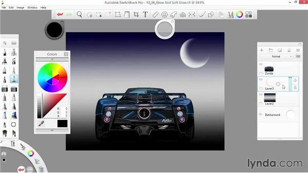 Glow and Soft Glow: SketchBook Pro 7 Essential Training