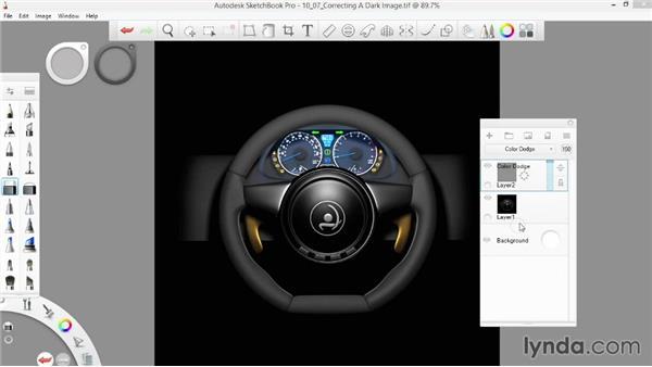 Correcting a dark image: SketchBook Pro 7 Essential Training