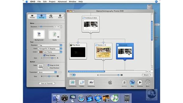 How the map illustrates navigation: iMovie HD + iDVD 5 Essential Training