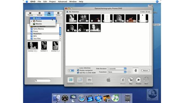 Background music: iMovie HD + iDVD 5 Essential Training