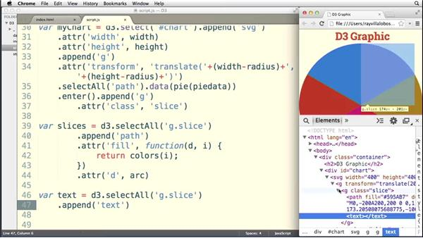 Improving our pie layout: Data Visualization with D3.js