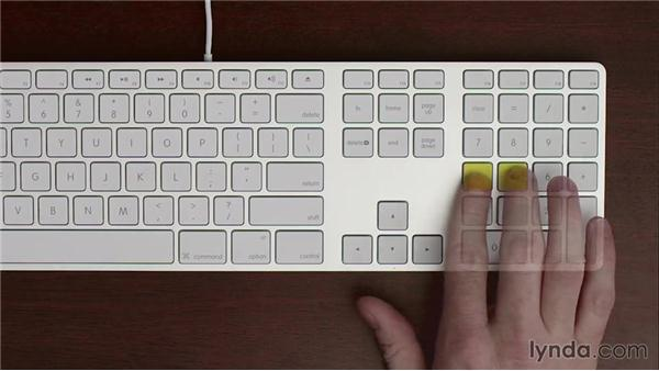 Numeric keypad home row: Typing Fundamentals