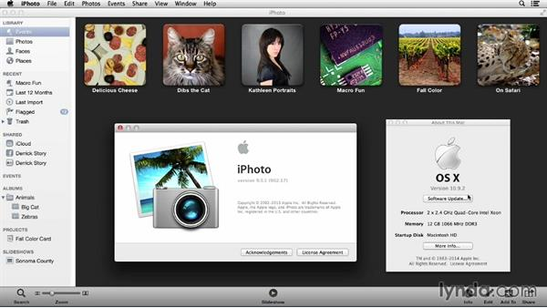 System requirements: Up and Running with iPhoto