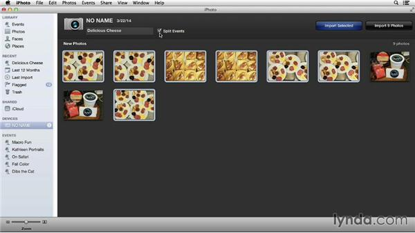 Importing images: Up and Running with iPhoto