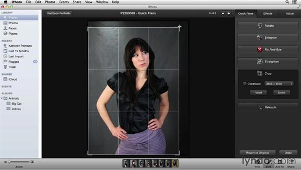 The Quick Fixes tab: Up and Running with iPhoto