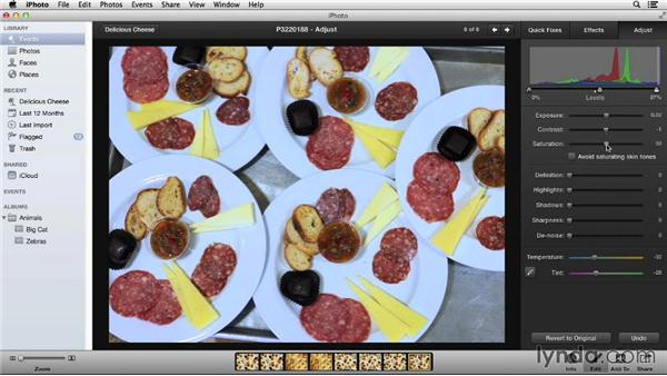 The Adjust tab: Up and Running with iPhoto