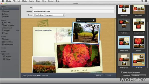 Using design templates for email: Up and Running with iPhoto