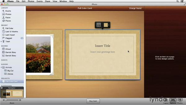 Designing a greeting card: Up and Running with iPhoto