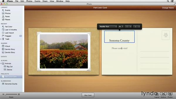 Creating a printable card: Up and Running with iPhoto