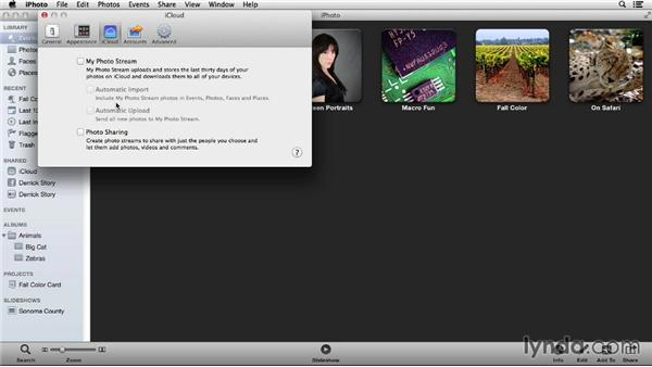 Automatically backing up photos from your mobile devices: Up and Running with iPhoto