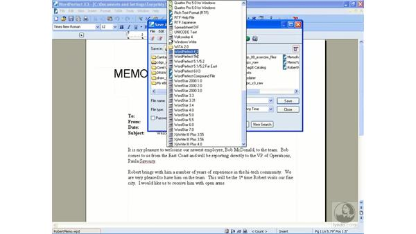 Saving files: Getting Started With WordPerfect Office X3