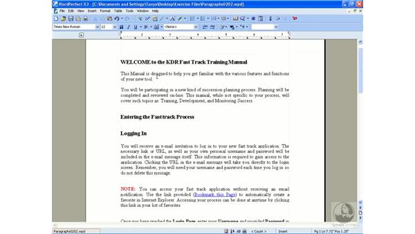 Formatting paragraphs: Getting Started With WordPerfect Office X3